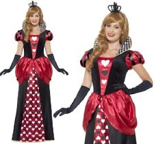 Royal Red Queen of Hearts Ladies Fancy Dress Fairytale Book Day Adults Costume 2xl 24-26