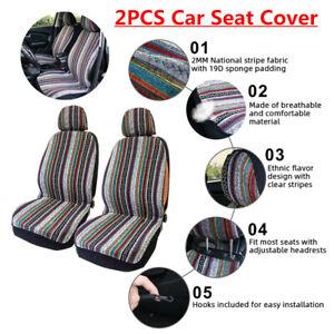 2Pcs Universal Auto Car SUV Seat Cover with Headrest Cover + 16PCS plastic Hooks