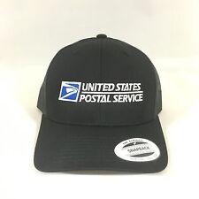 USPS Snapback Cap United States Postal Service Classic Trucker Hat Yupoong Black