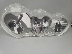 """Mikasa Rosemont Triple Heart Frame 14 1/2"""" 0001"""