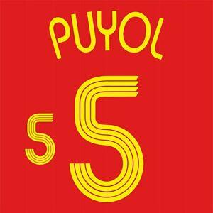 Puyol 5. Spain Home football shirt 2005 - 2007 FLEX NAMESET NAME SET