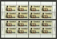 CANADA #641 8¢ Telephone Centenary Match Set of Inscription Blocks MNH