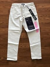 NWT BANDOLINO Smooth Operator White Wash Denim Skinny Fit Crop Pants Size 6