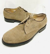Timberland Mens 9.5M Taupe Brown Suede Leather Lace Up Loafer Shoes