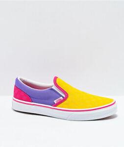 Vans // Classic Slip On [Pop Yellow/Purple/Pink Glow] #00497650 (M5.5/W7)