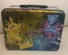 Pokemon SM Collector's CHEST Tin Empty 2017 Pikachu SHINY MEW LUNCH BOX