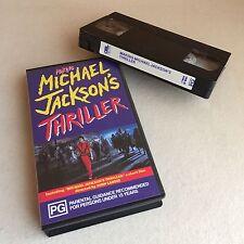 RARE 1983 MICHAEL JACKSON 'Making MICHAEL JACKSONS Thriller Movie' VHS Pal VIDEO