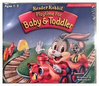 Reader Rabbit Playtime For Baby and Toddler Pc Brand New XP Easy To Use For Kids