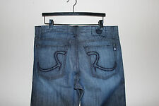 ROCK & REPUBLIC Henlee Black Bolted Denim Jeans 36 x 34 NWT NEW Relaxed Straight