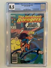 West Coast Avengers #46 CGC 8.5 1st App Great Lakes Avengers - Newsstand Variant