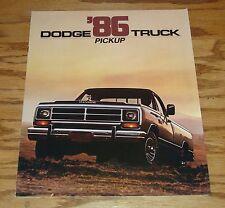 Original 1986 Dodge Truck Pickup Sales Brochure 86