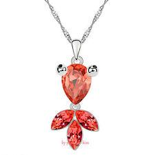 Collana da Donna Cristallo Swarovski Elements Ciondolo Pesce Rosso W112