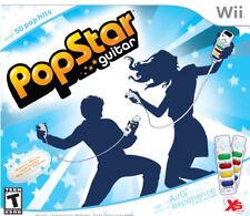 NEW Nintendo Wii POPSTAR GUITAR Game w/2 AirG Controllers hero air grip pop rock