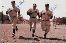 Berra Ford Houk NY Yankees SIGNED 8x10 Photo COA!