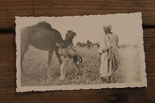 Photo Anonymous Morocco years 30 - Baby - colt - shepherd of herd camel