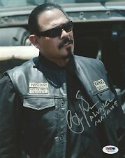 Emilio Rivera Signed Sons of Anarchy 8x10 Photo PSA/DNA COA Mayans Auto Picture