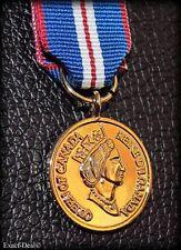 Canada Canadian The Queen Elizabeth II Golden Jubilee Miniature Medal 1952- 2002