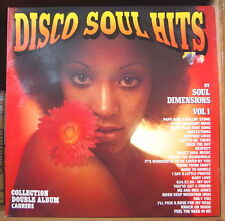 SOUL DIMENSIONS DISCO SOUL HITS VOL.1 CHEESECAKE COVER DOUBLE FRENCH LP CARRERE
