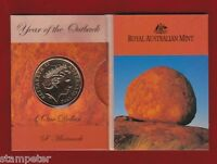 2002 Year of the Outback $1 unc Coin - Sydney Mint Mark