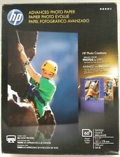"""HP 60 Sheet Advanced Photo Paper Glossy 5"""" x 7"""" Q8690A Free Shipping Sealed New"""