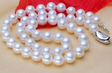 "HUGE 18""10-11MM NATURAL SOUTH SEA WHITE PERFECT ROUND GENUINE PEARL NECKLACE 388"