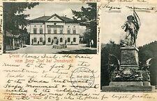 Austria Berg Isel bei Innsbruck - 1900 Bahnpost Cover double vignette postcard