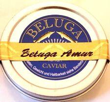 250g Amur Beluga Kaviar vom pur Huso Dauricus Aquakultur +2 Perlmuttlöffel