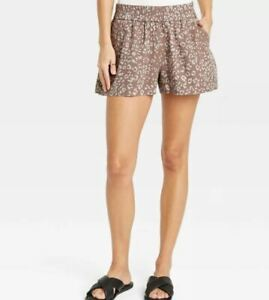 A New Day Women's High-Rise Pull-On Shorts Brown Size XS