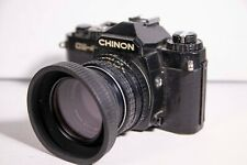 CHINON CE-4 SLR FILM CAMERA With SMC PENTAX M 50mm lens