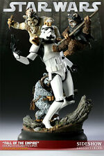 SIDESHOW STAR WARS EWOKS VS STORMTROOPER POLY STONE STATUE NEW