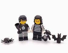 Lego Minifigs Goth Couple With Accessories Bat Spider Teddy Bear GF1