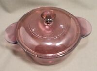 Corning Pyrex Covered Casserole Dish with Lid 1174 Cranberry Visions 1 Qt