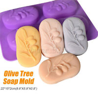 Food-Grade DIY Crafts Soap Making Mould Cake Baking Tool Silicone Olive TreeMo