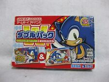 SONIC DOUBLE PACK  Pinball Party & Sonic Battle Game Boy Advance Nintendo Japan
