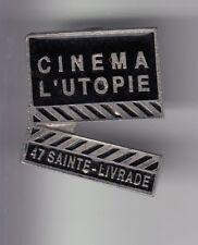 RARE PINS PIN'S .. CINEMA FILM MOVIE CLAP SALLE L'UTOPIE SAINTE LIVRADE 47 ~DU