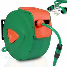 Bakaji Avvolgitubo Acqua Automatico da Parete Tubo 20m + 2m - Verde/Arancione
