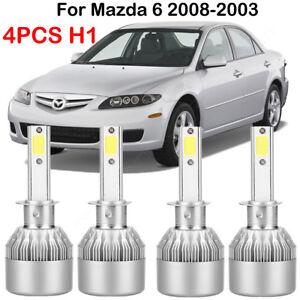 For Mazda 6 2008-2003 H1 LED Headlight Conversion Kit Power Bulbs Beam