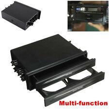 Black Car Radio Stereo 2Din Dash Accessories Installation Pocket w/Cup Holder