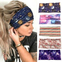 Floral Headband Elastic Wrap Turban Hair Band Hairband Sports  Yoga Gym Headwrap