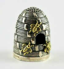 Antique Style Beehive Thimble 925 Sterling Silver