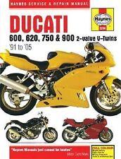 1991-2005 Ducati 600, 620, 750 & 900 2-Valve V-Twins Hardback Repair Manual