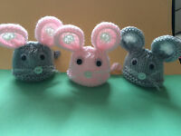 Easter EGG Cozy / Cosy Choose from Animal designs, Grey Mouse cat rabbit