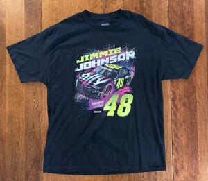 Jimmy Johnson Hendrick motorsports t-shirt NWOT black XL