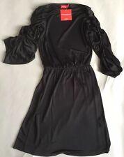 Sophia Kokosalaki For TS Design Top Shop Black Dress Draped Ruched Sleeves 12