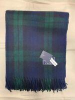 100% Wool Blanket | The House Of Balmoral Scotland | Black Watch | Tartan