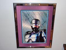 Robocop SIGNED Framed Movie Poster Peter Weller Rare Inscription Ticket Detroit