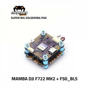Mamba STACK F722 DJI MK2+F50_BLS Flight Controller FC ESC 50A M3 30*30mm Diatone