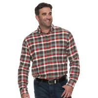 Croft & Barrow Flannel Shirt Extra Soft Men's Big and Tall, Red Gray Plaid