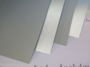 Silver Pearlescent Shimmer Paper A4 1-Sided Grey reverse 90gsm Cardmaking AM803