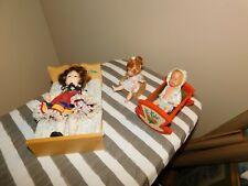Small Hong Kong Doll Lot 1970 Uneeda 1972 Vogue + Rubber Baby + Furniture
